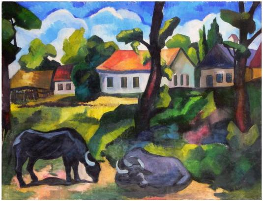 andscape-from-baia-mare-with-buffalos