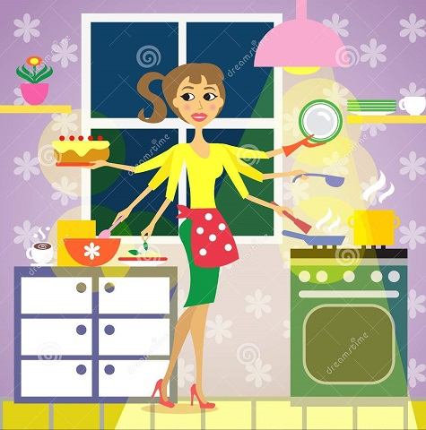 kitchen-woman-cuisine-cooking-vector-illustration-34985444